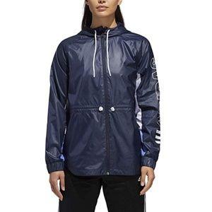 Adidas Outline Zip Up Hooded Windbreak Jacket